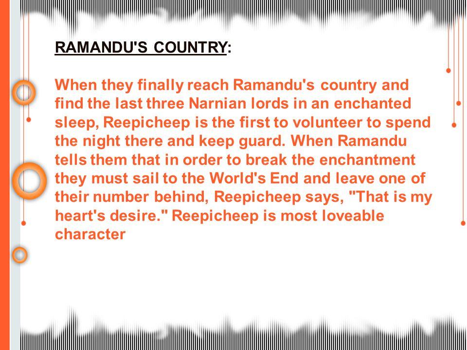 RAMANDU S COUNTRY: