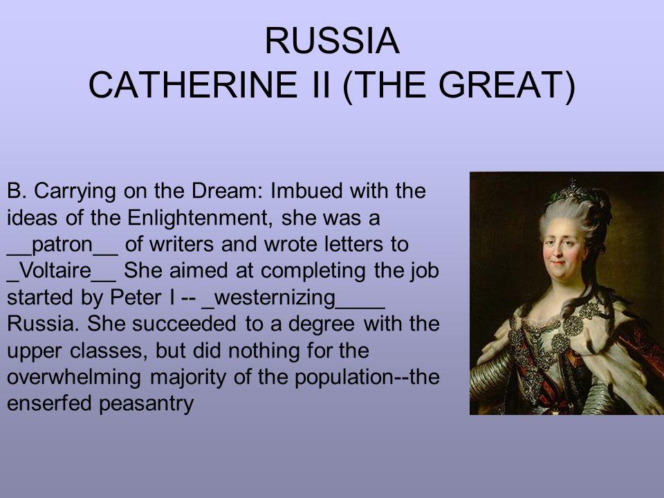 RUSSIA CATHERINE II (THE GREAT)