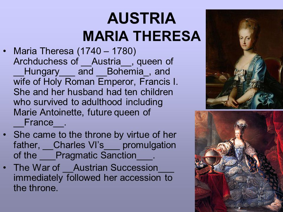 AUSTRIA MARIA THERESA
