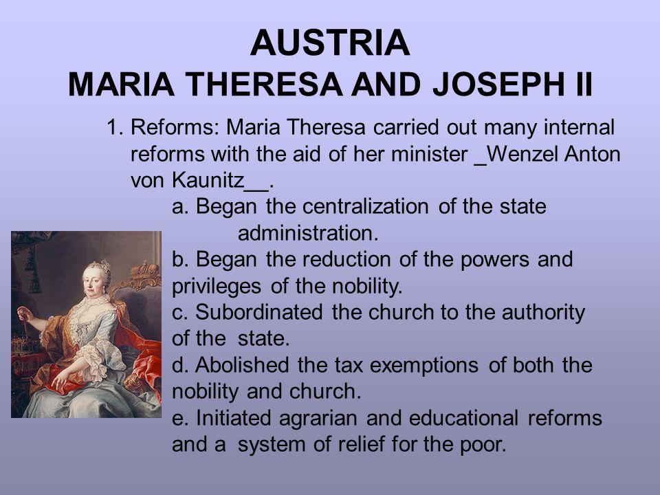 AUSTRIA MARIA THERESA AND JOSEPH II