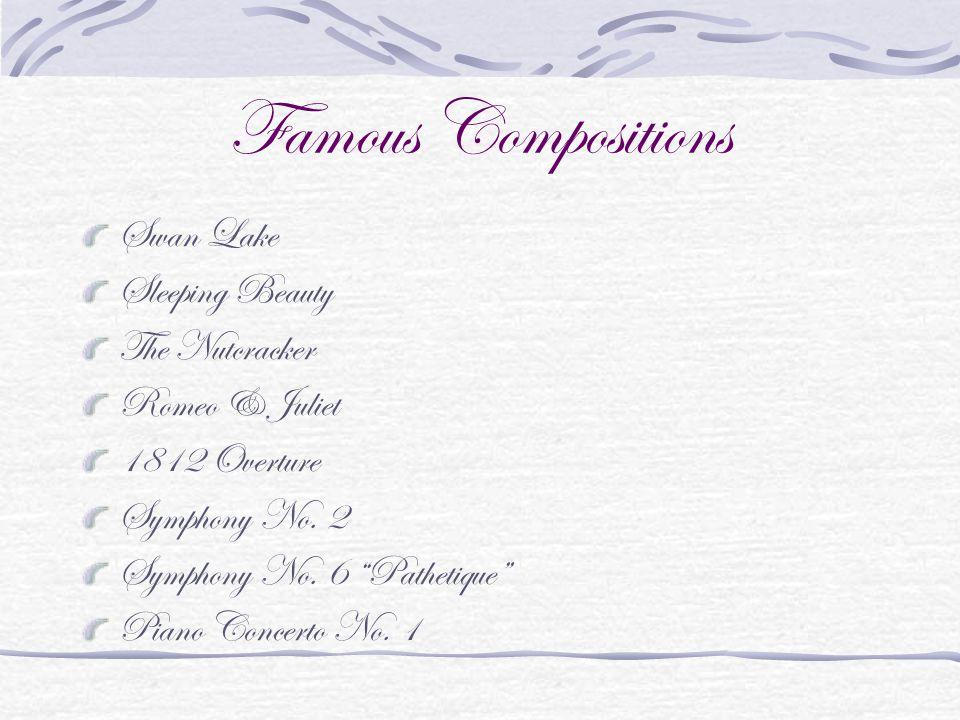 Famous Compositions Swan Lake Sleeping Beauty The Nutcracker