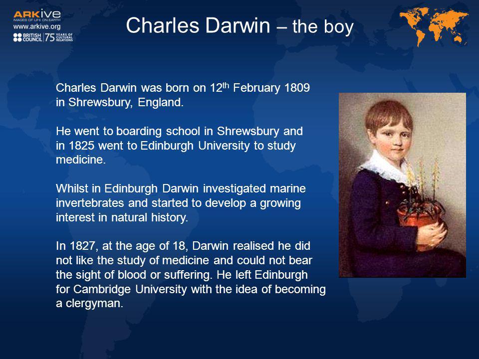 Charles Darwin – the boy