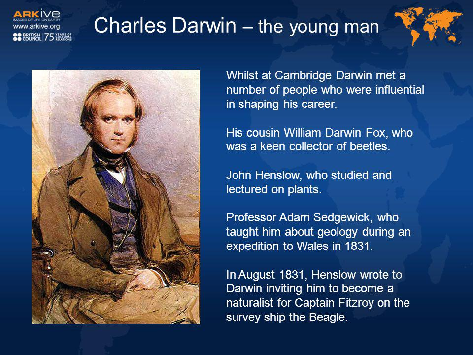 Charles Darwin – the young man
