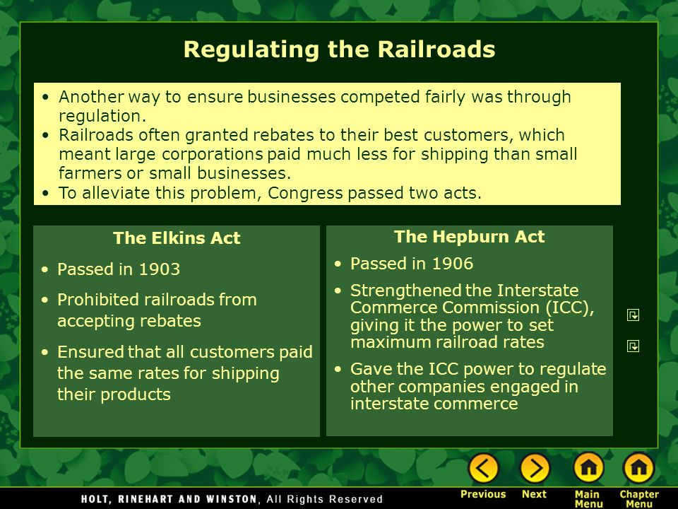 Regulating the Railroads