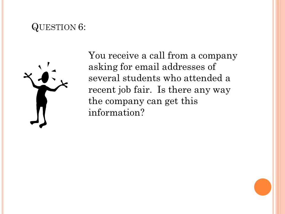 Question 6: