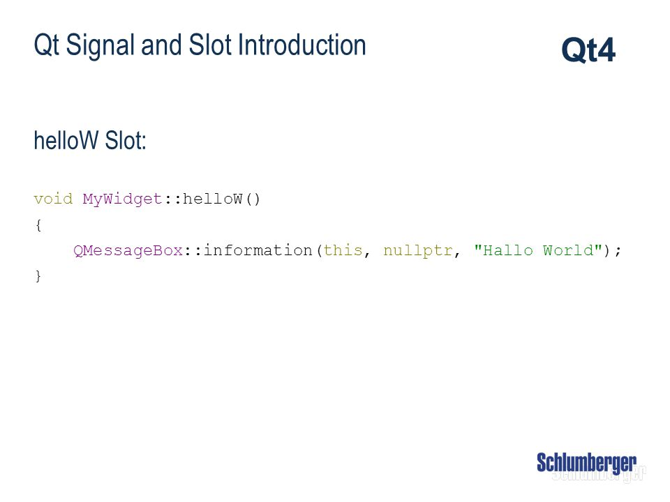 Qt Signal and Slot Introduction