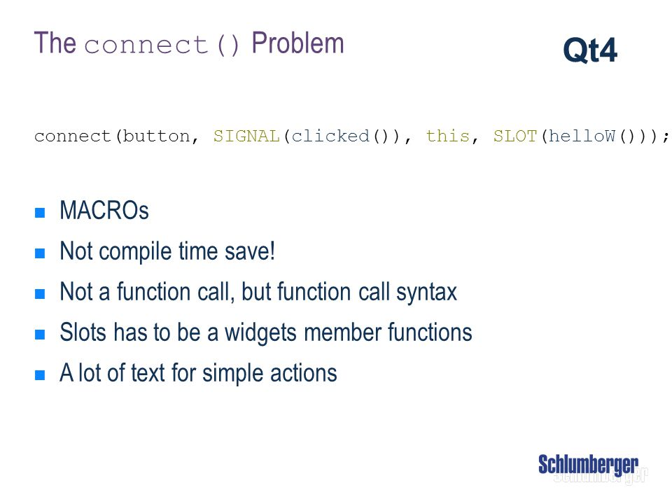 Qt4 The connect() Problem MACROs Not compile time save!