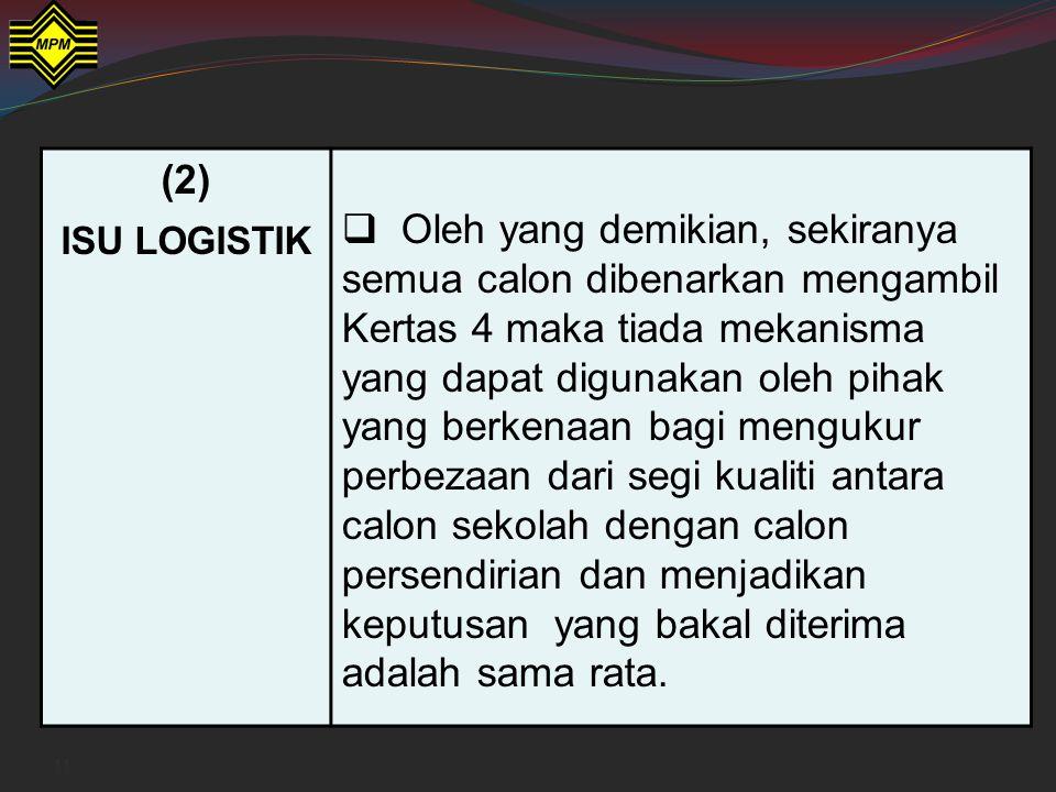 (2) ISU LOGISTIK.