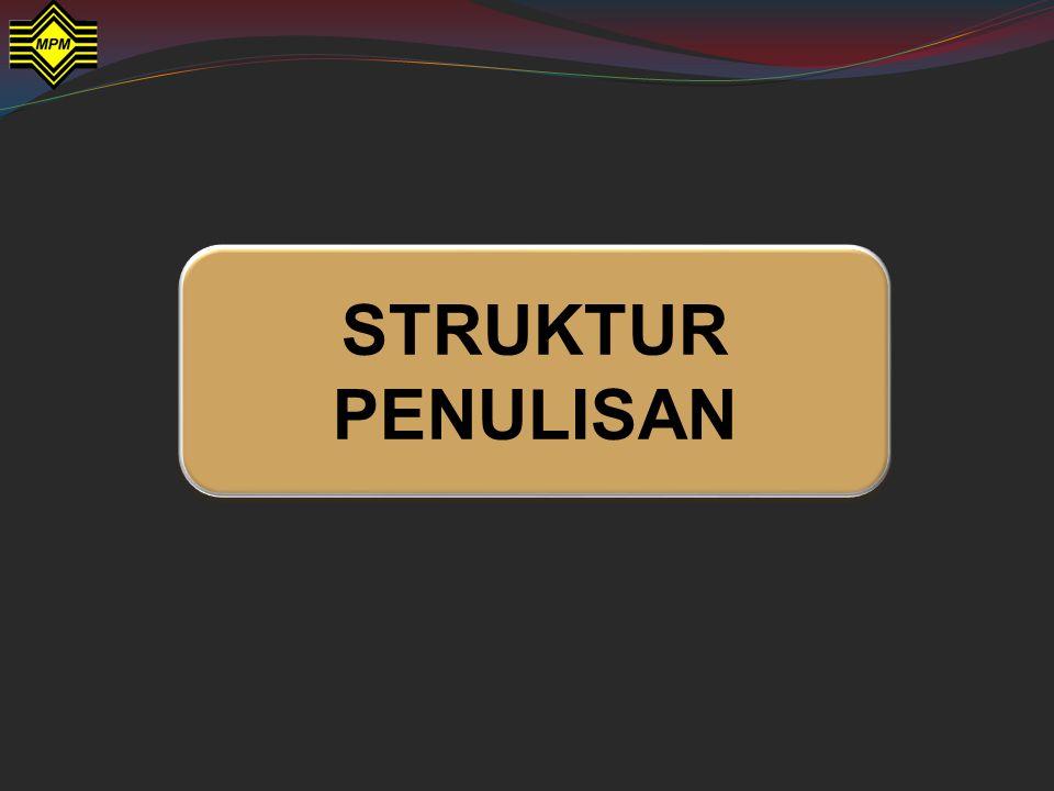 STRUKTUR PENULISAN