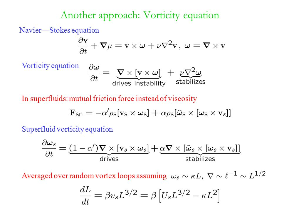 Another approach: Vorticity equation