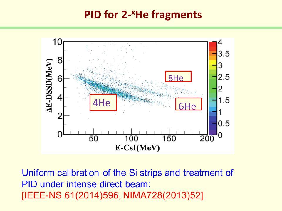 PID for 2-xHe fragments 4He 6He 8He