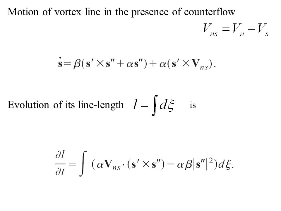 Motion of vortex line in the presence of counterflow