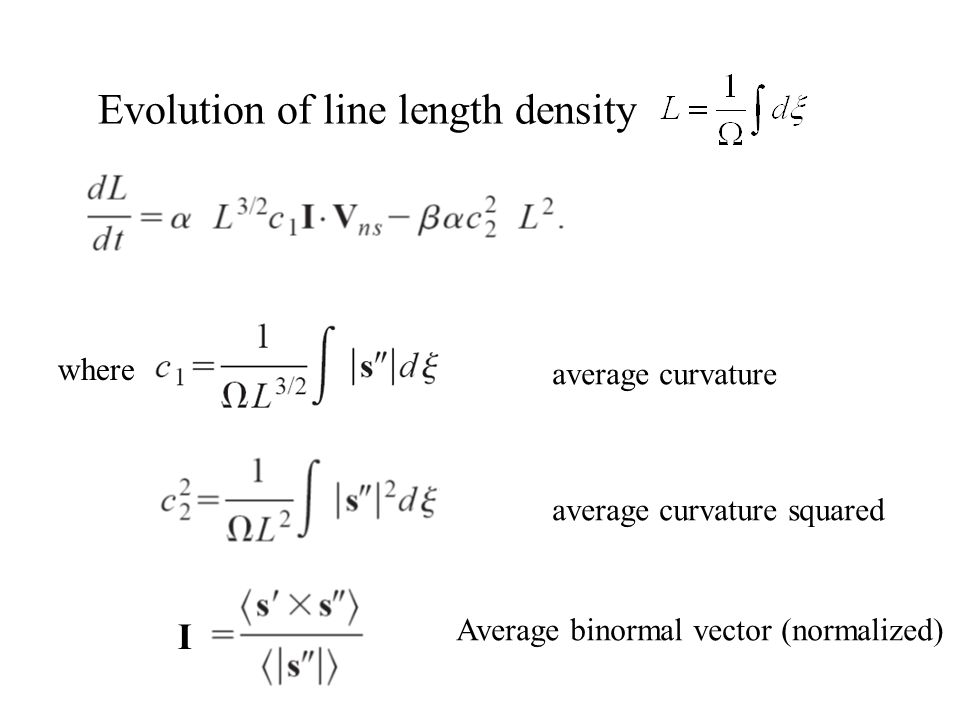Evolution of line length density