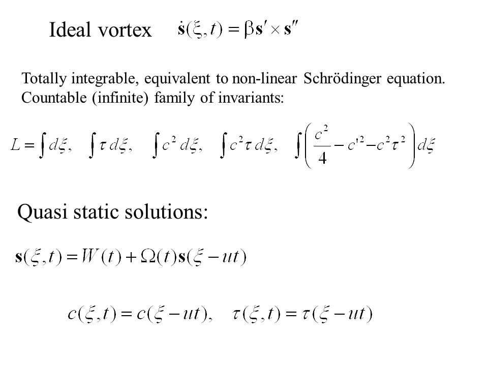 Quasi static solutions: