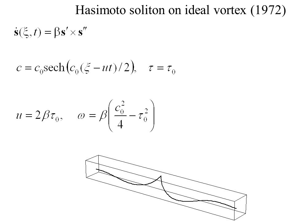 Hasimoto soliton on ideal vortex (1972)