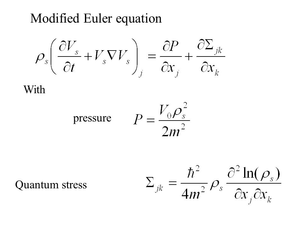 Modified Euler equation