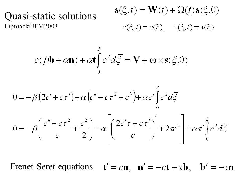 Quasi-static solutions