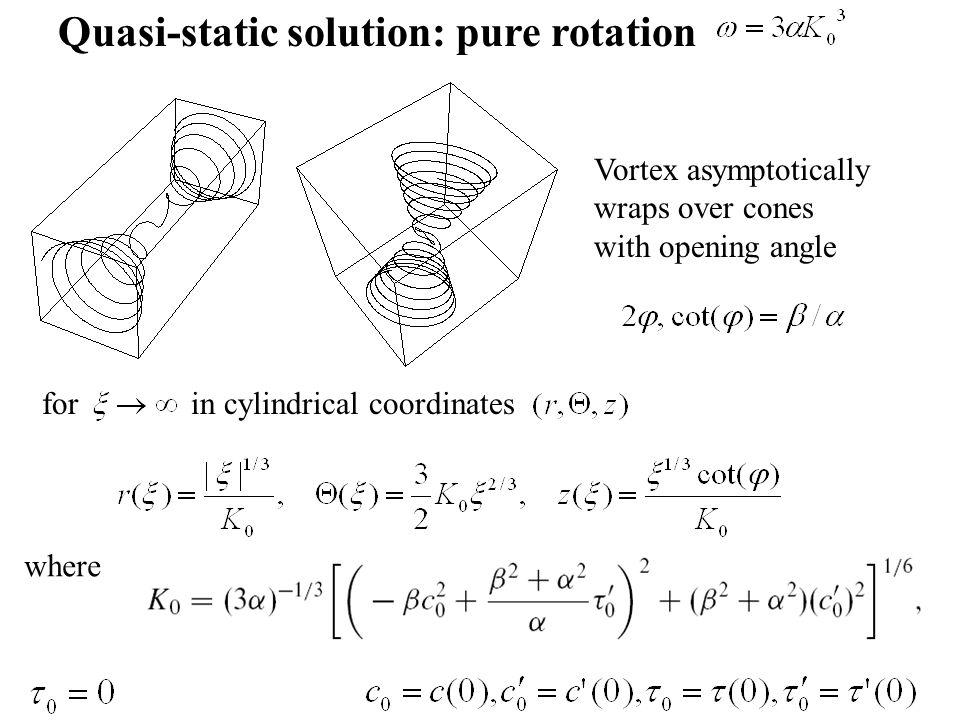 Quasi-static solution: pure rotation