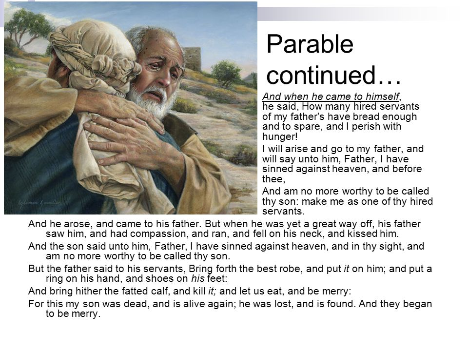 Parable continued…