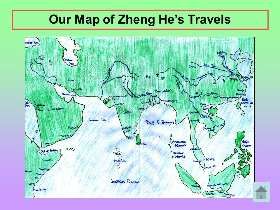 Our Map of Zheng He's Travels
