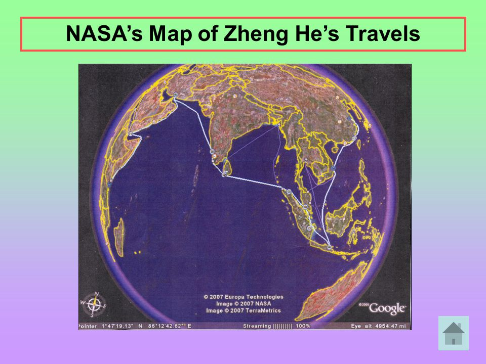 NASA's Map of Zheng He's Travels