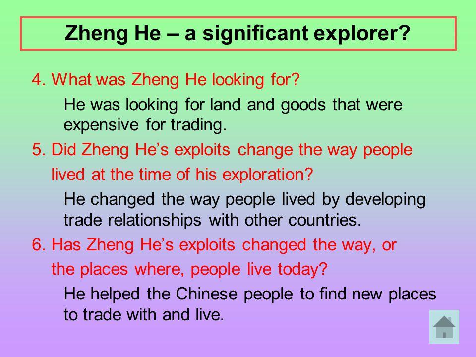 Zheng He – a significant explorer