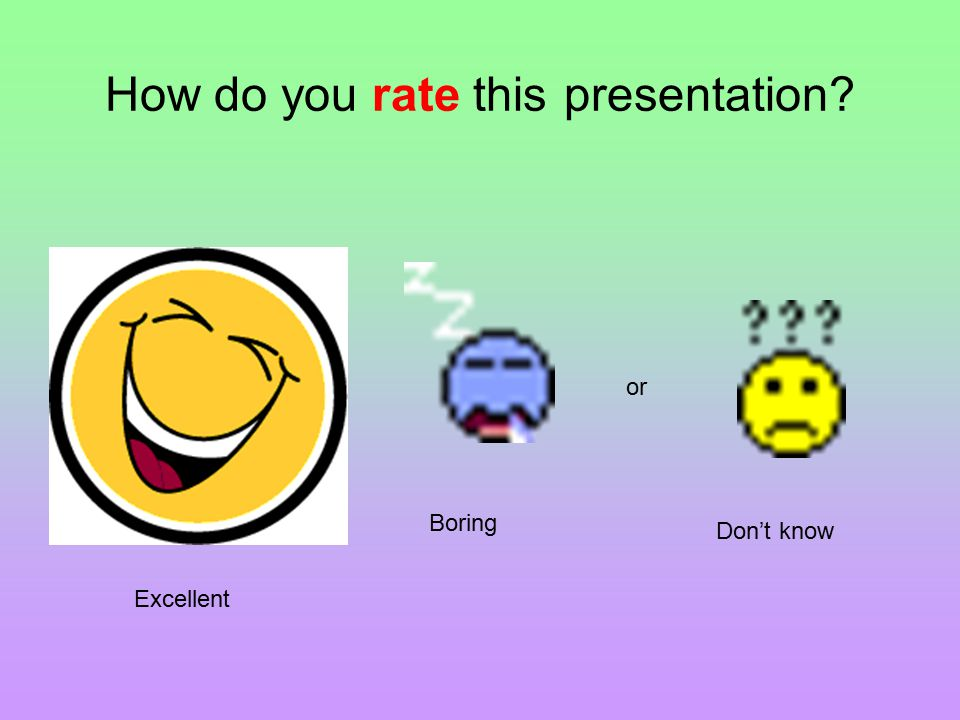 How do you rate this presentation