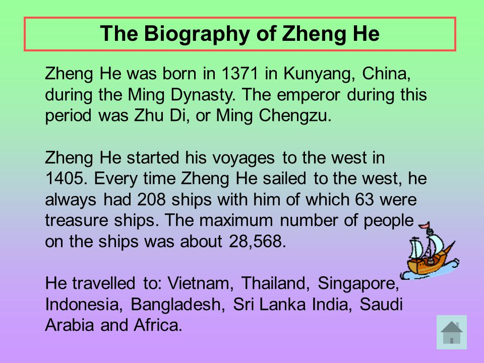 The Biography of Zheng He
