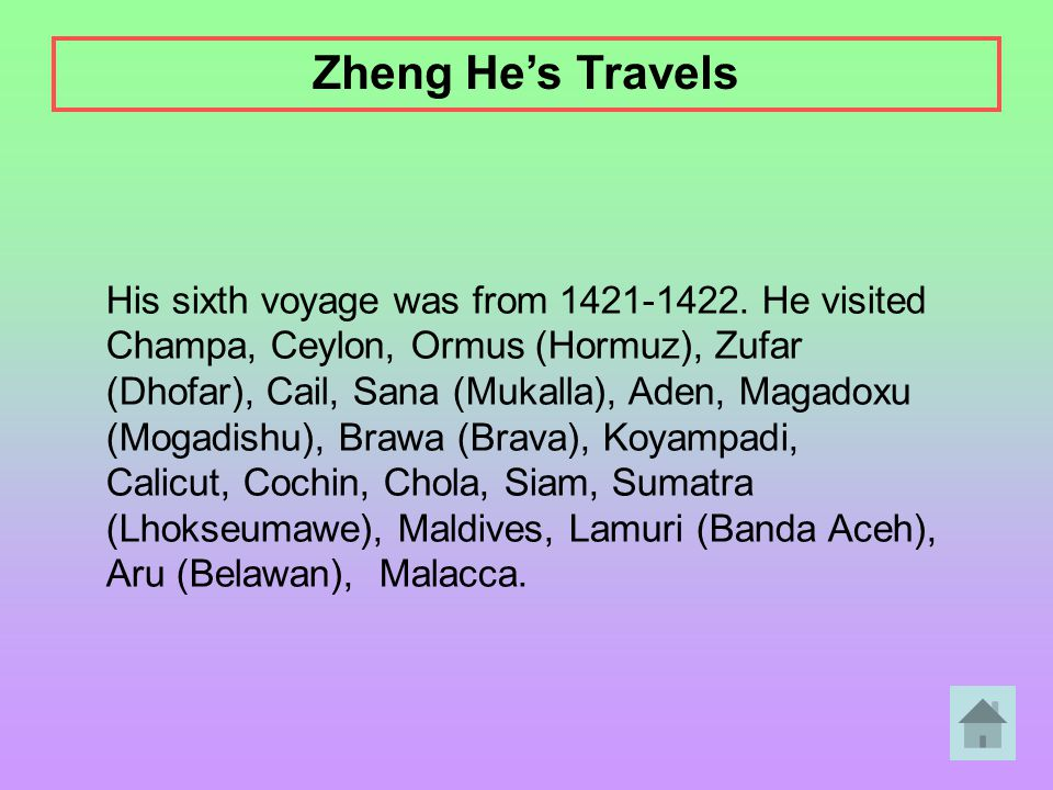 Zheng He's Travels