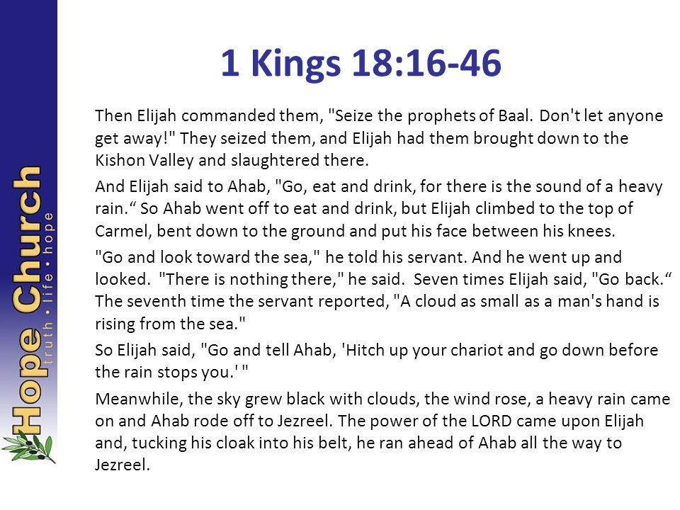 1 Kings 18:16-46