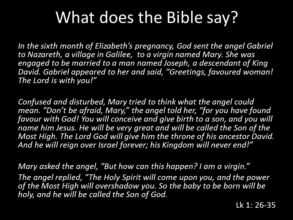 What does the Bible say