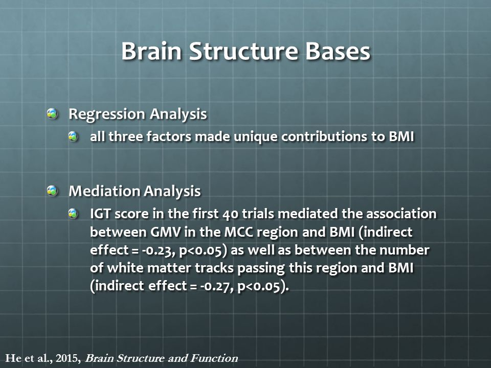 Brain Structure Bases Regression Analysis Mediation Analysis