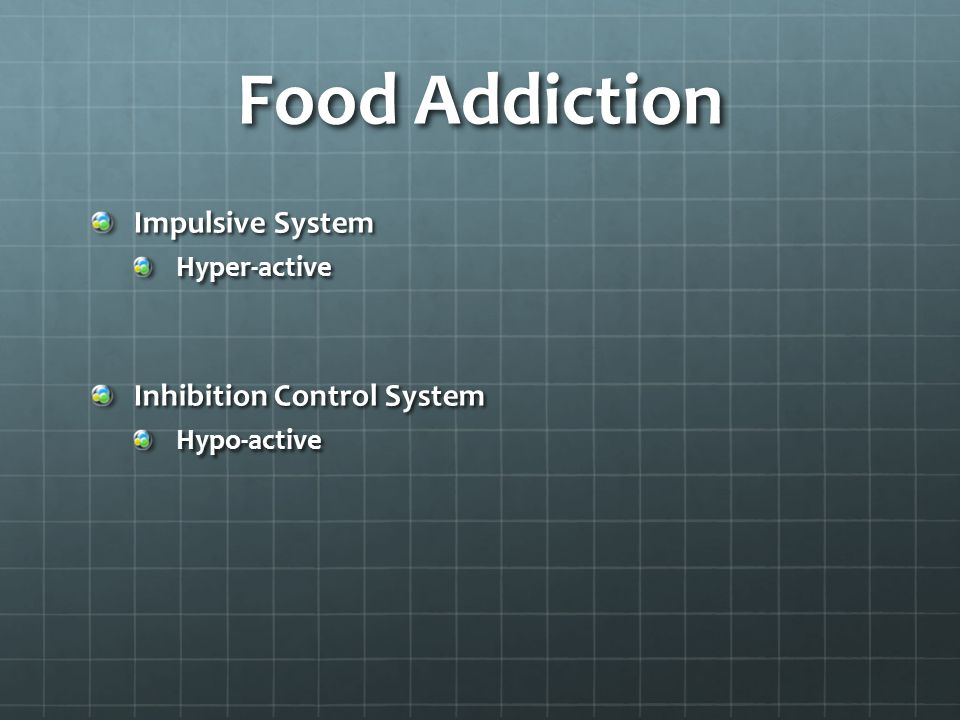 Food Addiction Impulsive System Inhibition Control System Hyper-active