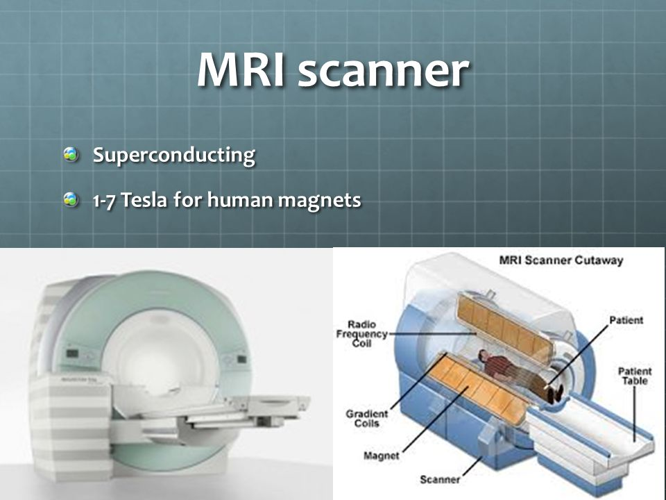 MRI scanner Superconducting 1-7 Tesla for human magnets