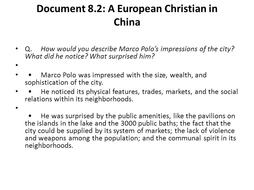 Document 8.2: A European Christian in China