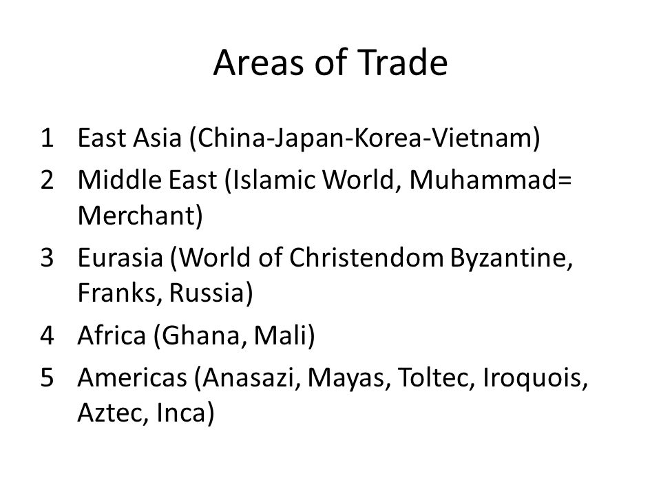 Areas of Trade East Asia (China-Japan-Korea-Vietnam)