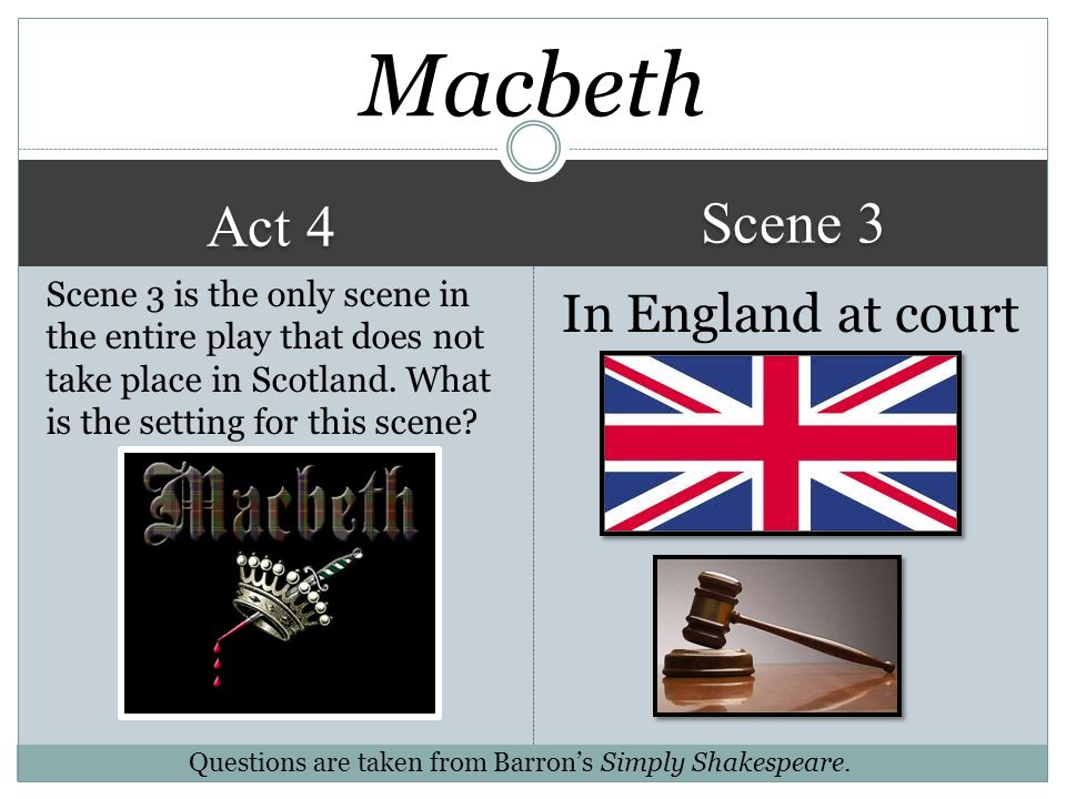 Macbeth Scene 3 Act 4 In England at court