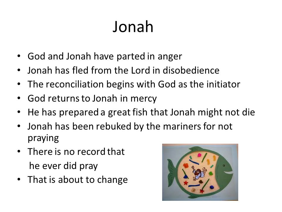 Jonah God and Jonah have parted in anger