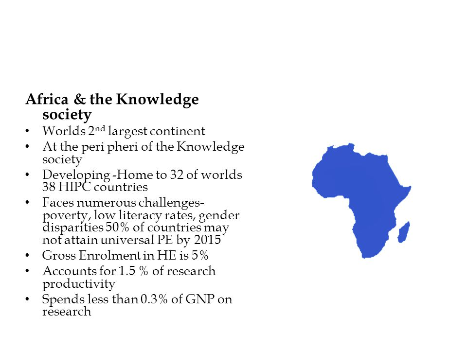 Africa & the Knowledge society