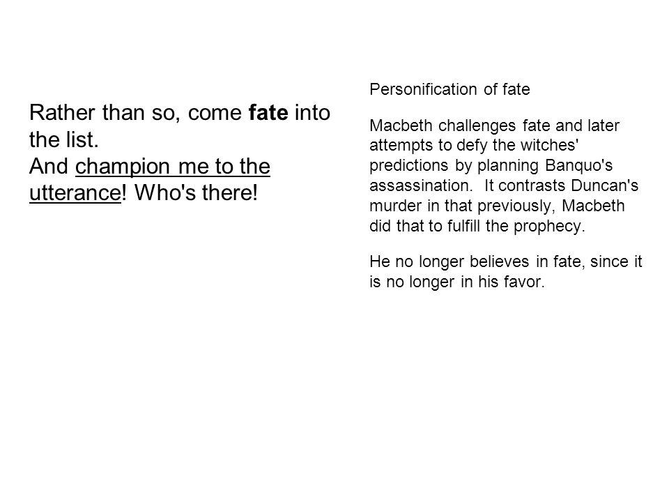 Personification of fate