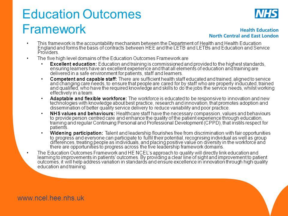 Education Outcomes Framework