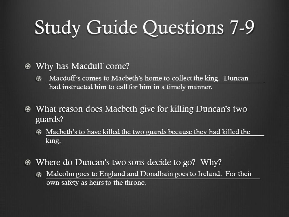 Study Guide Questions 7-9