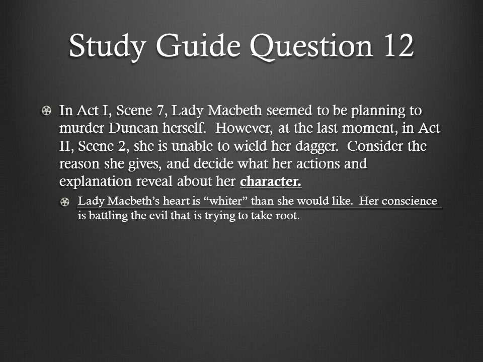 Study Guide Question 12