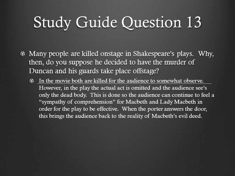Study Guide Question 13