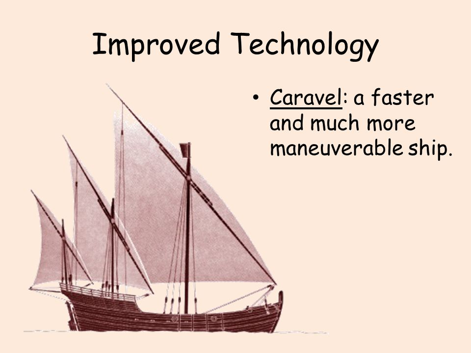 Improved Technology Caravel: a faster and much more maneuverable ship.
