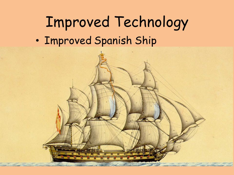 Improved Technology Improved Spanish Ship