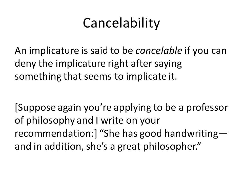 Cancelability