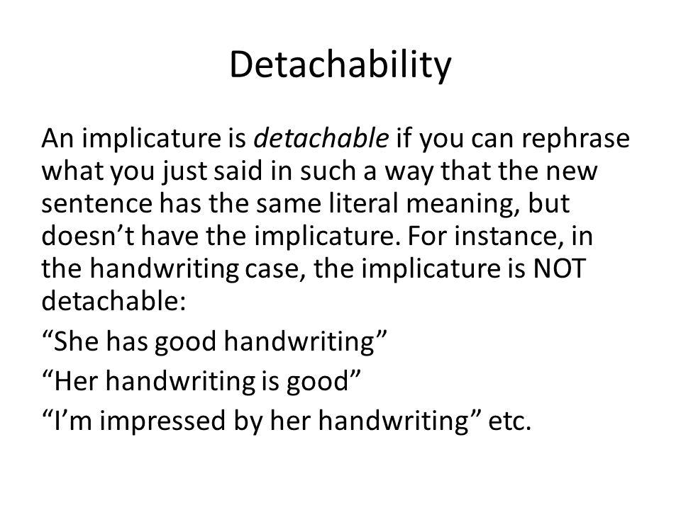 Detachability