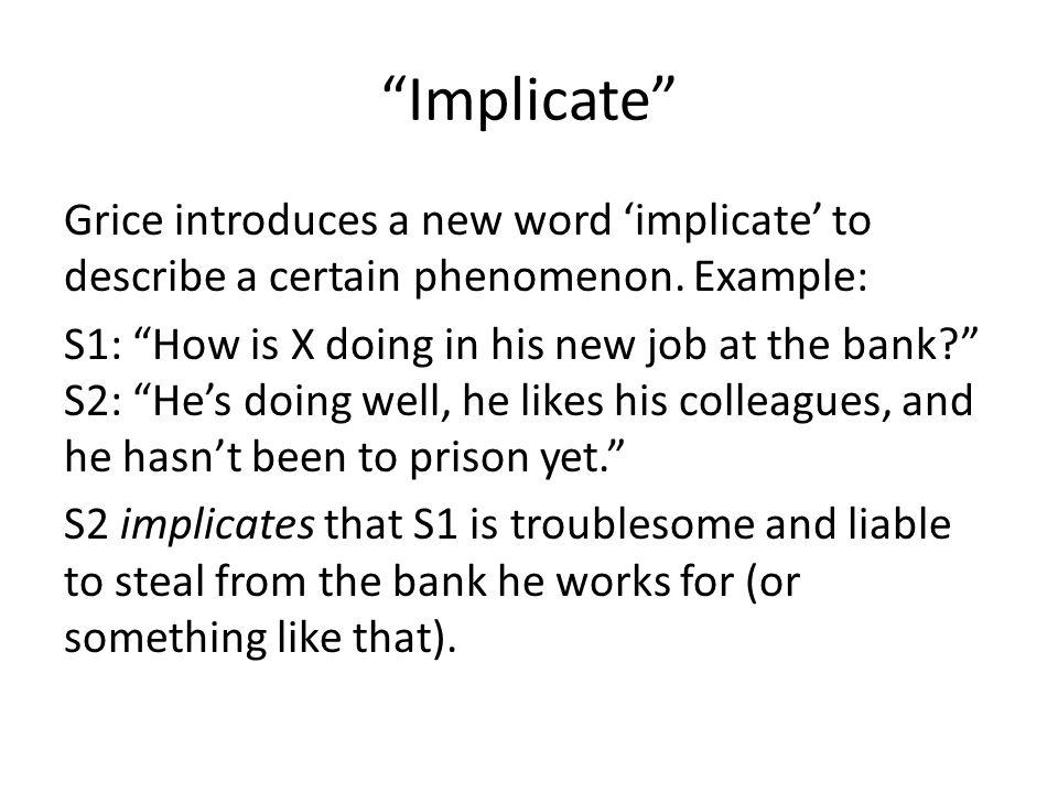 Implicate
