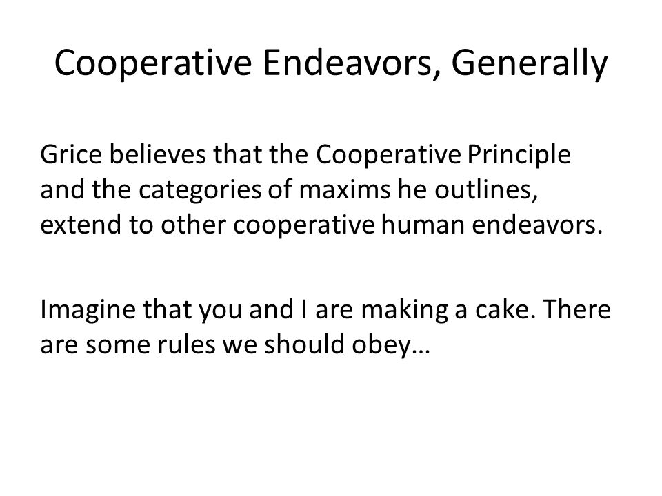 Cooperative Endeavors, Generally